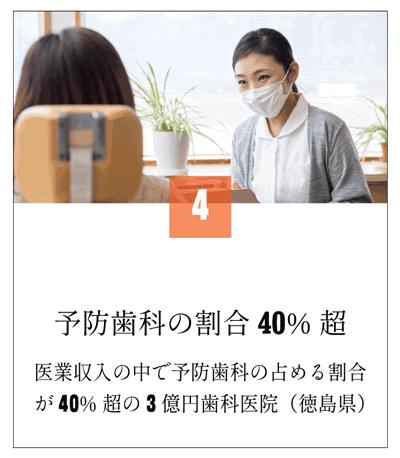 医業収入の中で予防歯科の割合が40%超(徳島県)128
